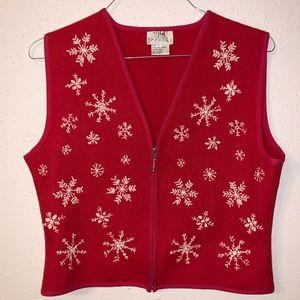 Vintage Wool Snowflake ❄️ Vest Size Large